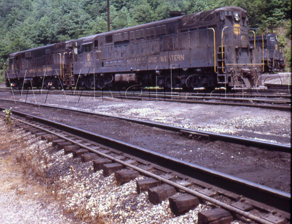 N&W 168 & 174 ex VGN 68 & 74 H24-66 Mullens, WV Aug 1972