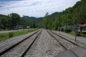 N&W ex VGN RofW Looking EB May 2013 Page, WV