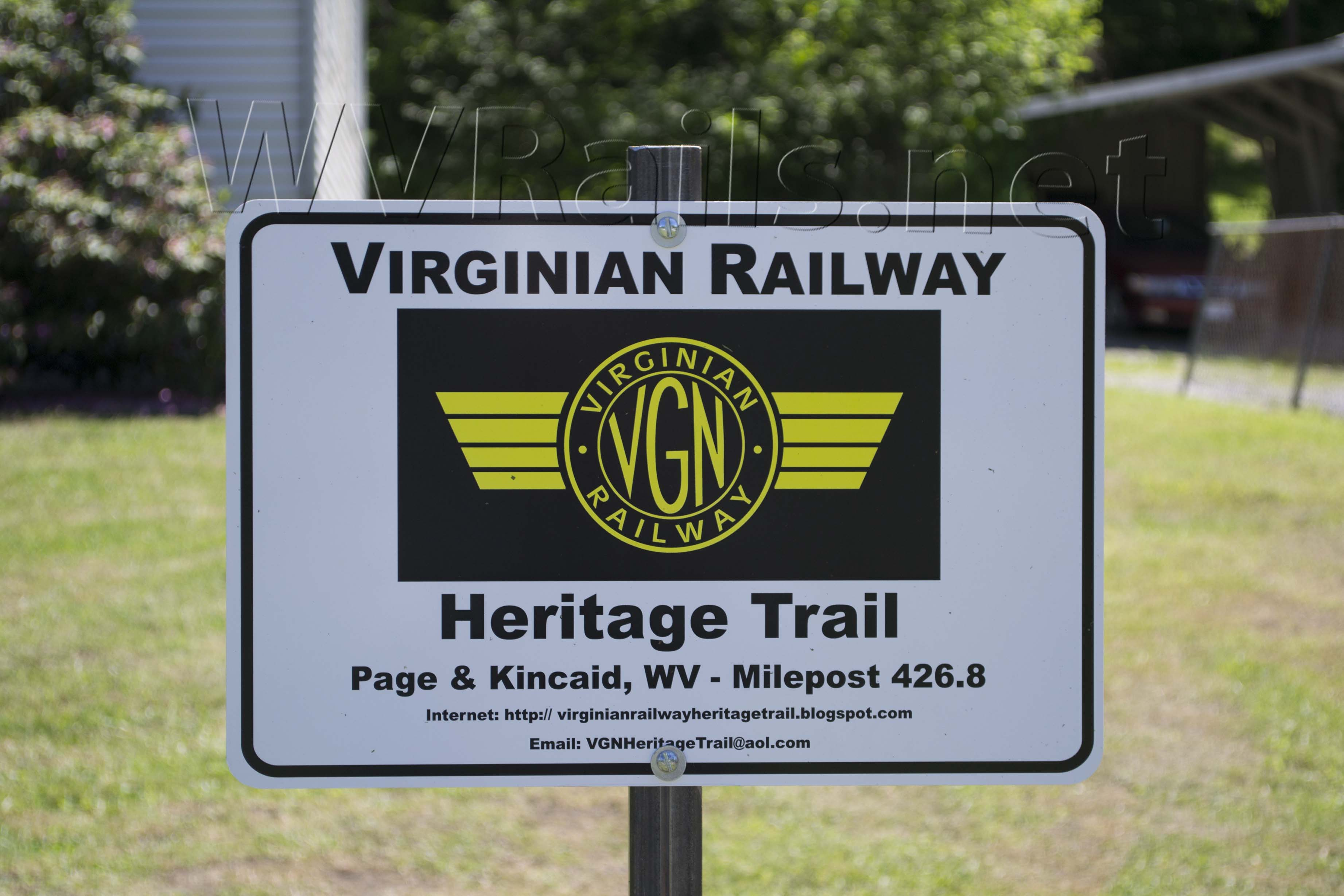 Virginian Railway Heritage Trail Sign (2)