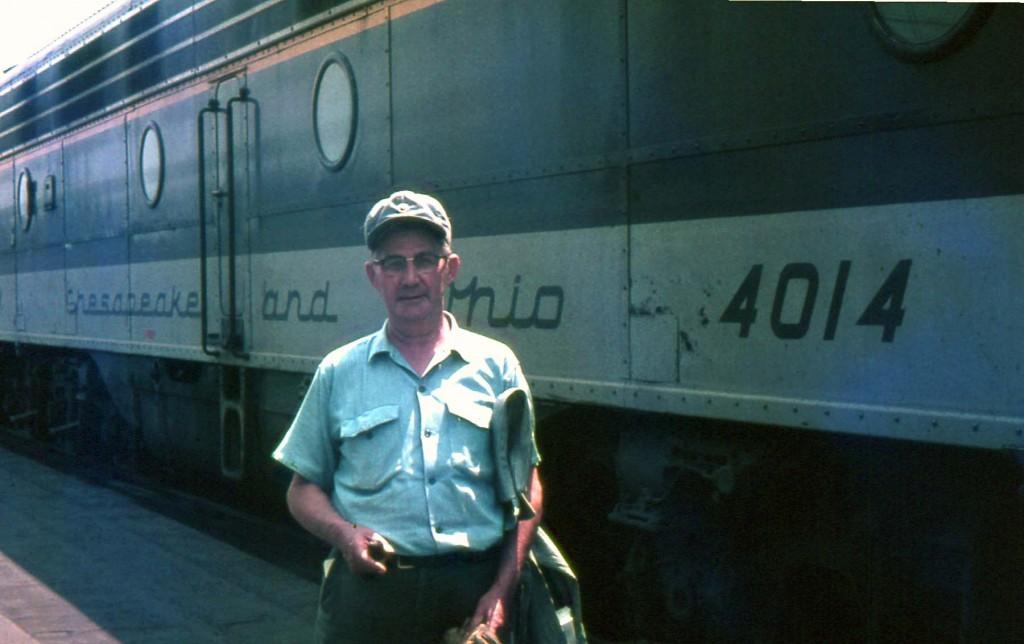C&O E-8A 4014 Huntington, WV Aug 66 Mr. H.F. Bogenschutz