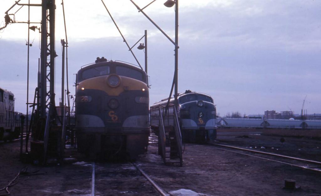 C&O E-8A 4026 Huntington, WV Mar 68